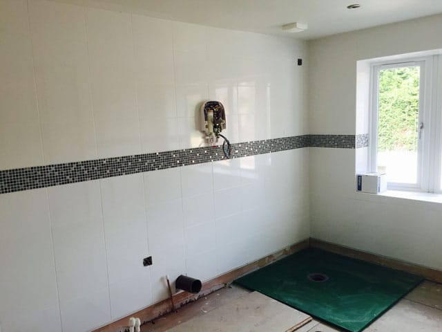 House Renovation in Sheffield for a Customer with Disabilities - During Bathroom Installation