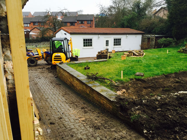 House Renovation in Sheffield for a Customer with Disabilities - During Landscaping
