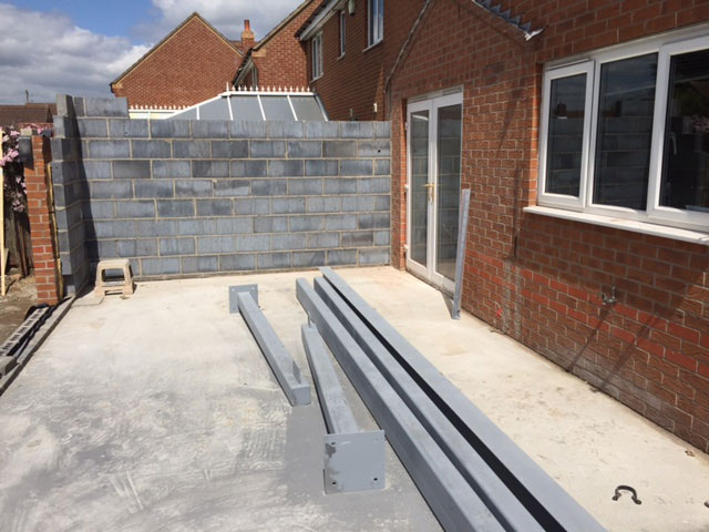 Extension Build in Doncaster - Steelwork