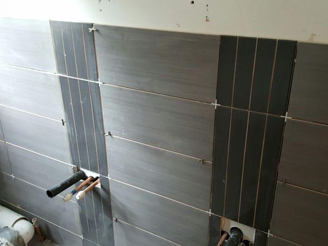 During Bathroom Installation in Barnsley