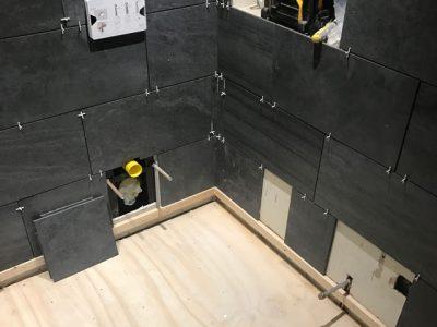 During Plumbing Bathroom
