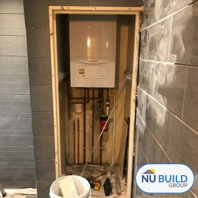 Bathroom During Joinery & Tiling