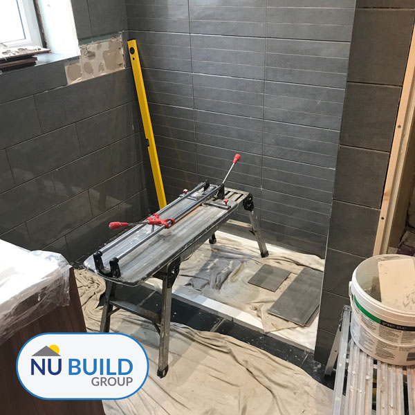 Bathroom During Tiling