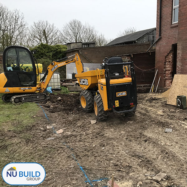 Farmhouse Extension Project Doncaster, Footings