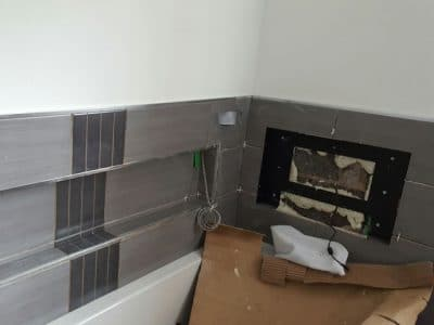 During Bathroom Installation in Barnsley